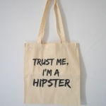 Totebag trust me, I'm a hipster by Ines Rombouts