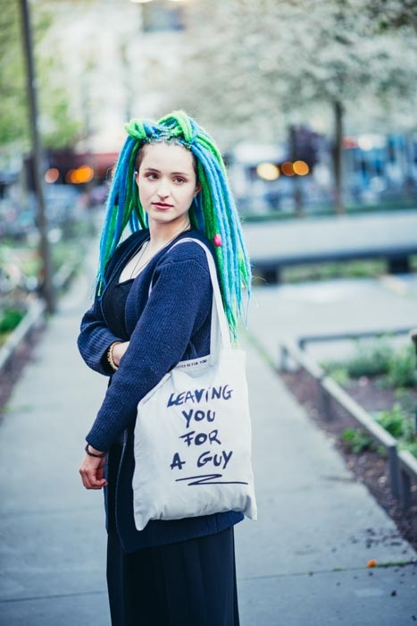 Leaving you for a guy tote bag