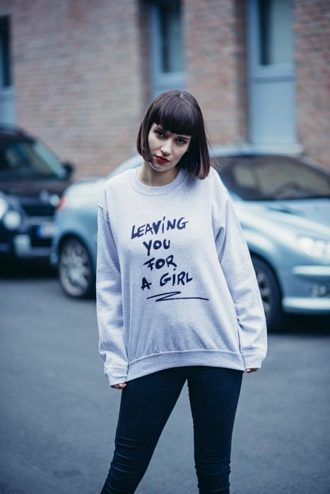 Leaving you for a girl sweater