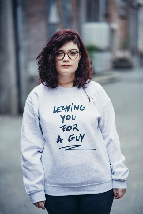 Leaving you for a guy sweater