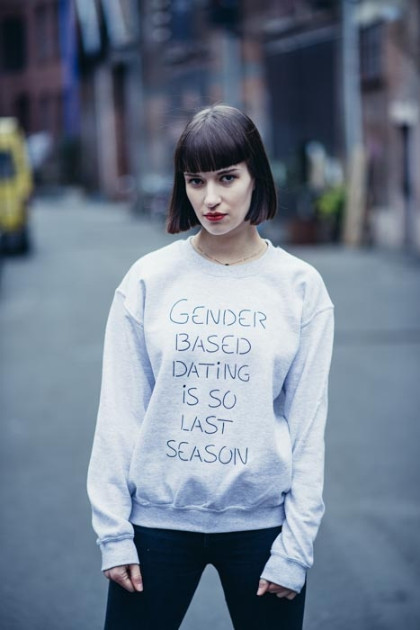 Gender based dating sweater